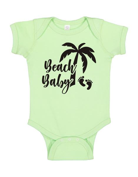"INFANT ONESIE FOR A SPECIAL BABY.""BEACH BABY!"""