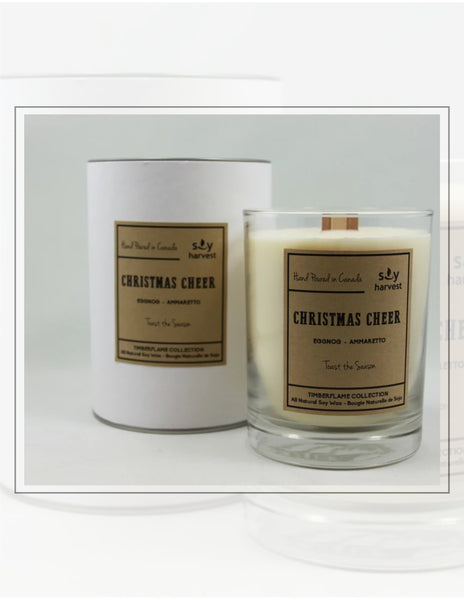 Soy Harvest Candles Timber Flame Collection Christmas Cheer Candle