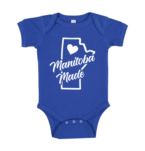 "INFANT ONESIE FOR A SPECIAL BABY.""MANITOBA MADE!"""
