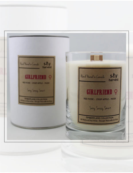 Soy Harvest Candles Timber Flame Collection Girlfriend Candle