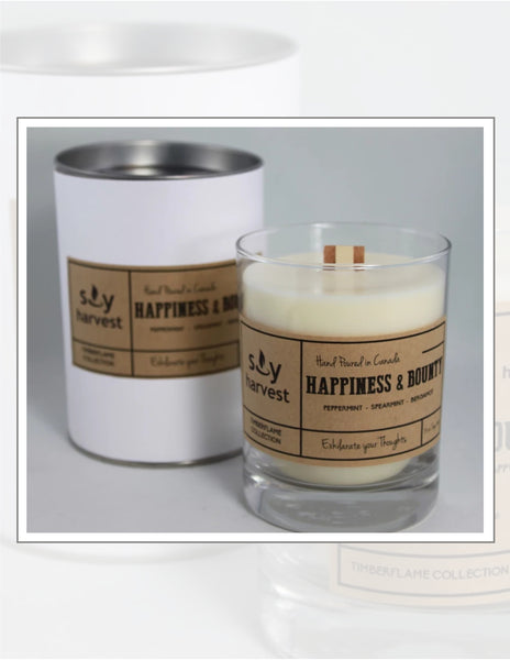 Soy Harvest Candles Timber Flame Collection Happiness & Bounty Candle