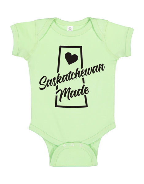 "INFANT ONESIE FOR A SPECIAL BABY.""SASKATCHEWAN MADE!"""