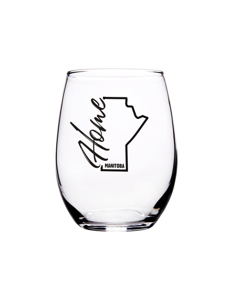 Manitoba Home 15 oz. Stemless Wine Glass