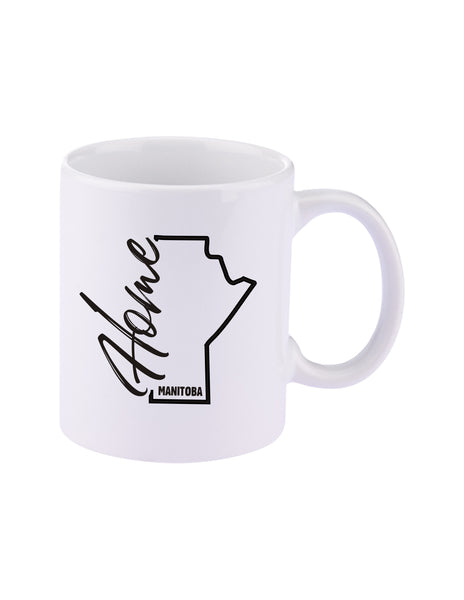 Manitoba Home 11 oz. C-Handle Ceramic Coffee Mug