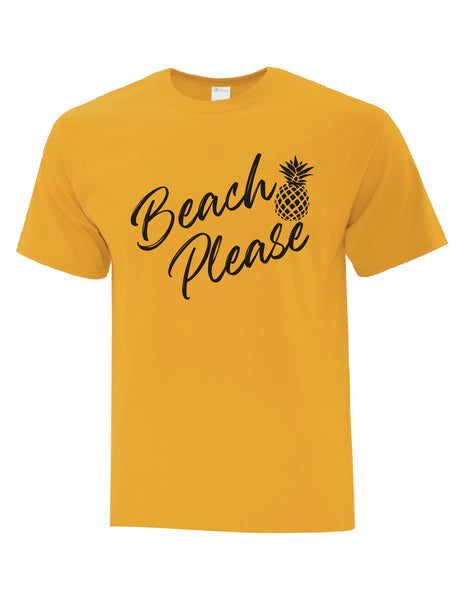 BEACH PLEASE PINEAPPLE UNISEX T-SHIRT