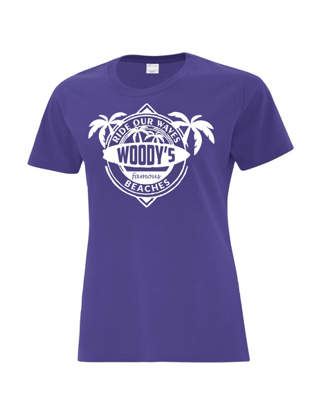 Ladies T-Shirt  printed with Ride the Woody Waves