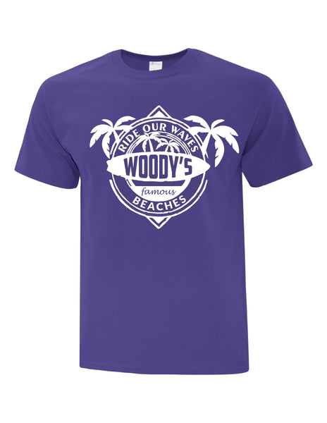 Unisex T-Shirt  printed with Ride the Woody Waves
