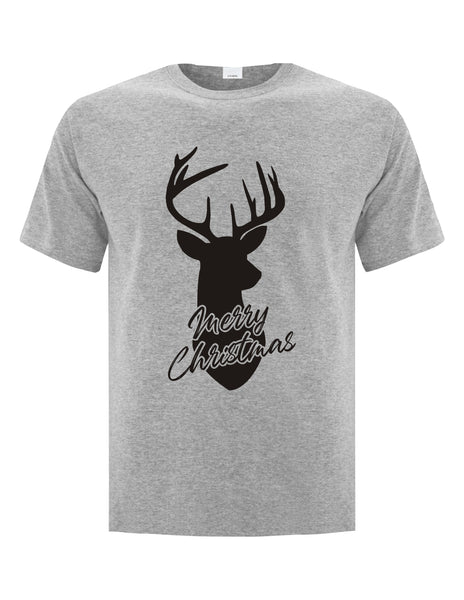 Merry Christmas Dear - Athletic Grey Unisex T-Shirt with Black Print