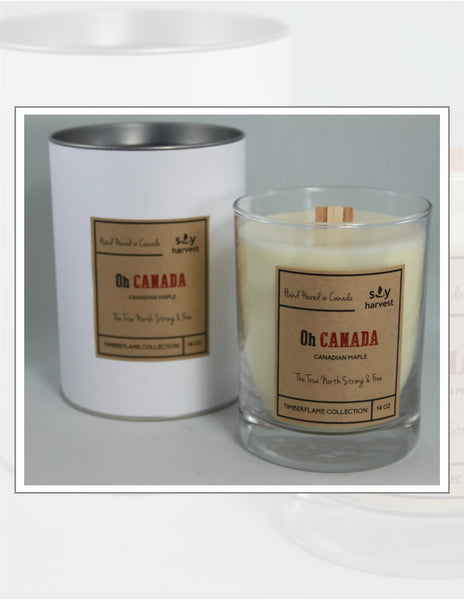 Soy Harvest Candles Timber Flame Collection Oh Canada Candle