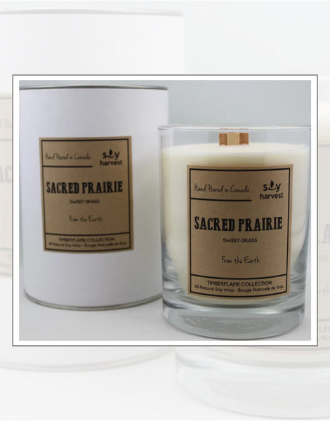 Soy Harvest Candles Timber Flame Collection Sacred Prairie Candle