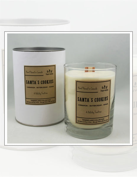 Soy Harvest Candles Timber Flame Collection Santa's Cookies Candle