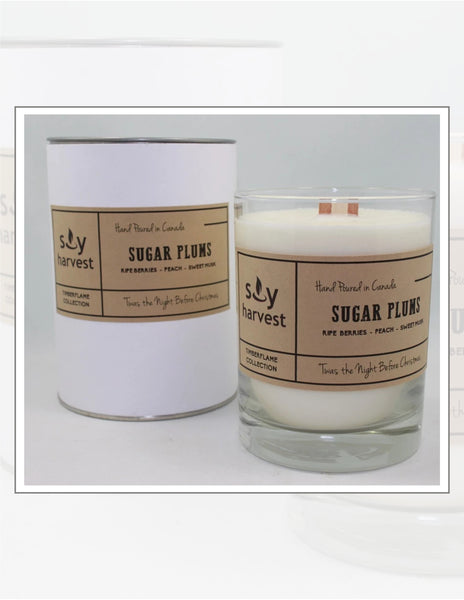 Soy Harvest Candles Timber Flame Collection Sugar Plums Candle