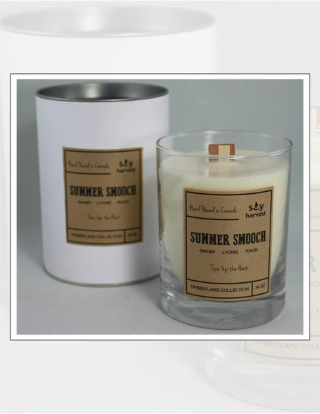 Soy Harvest Candles Timber Flame Collection Summer Smooch Candle