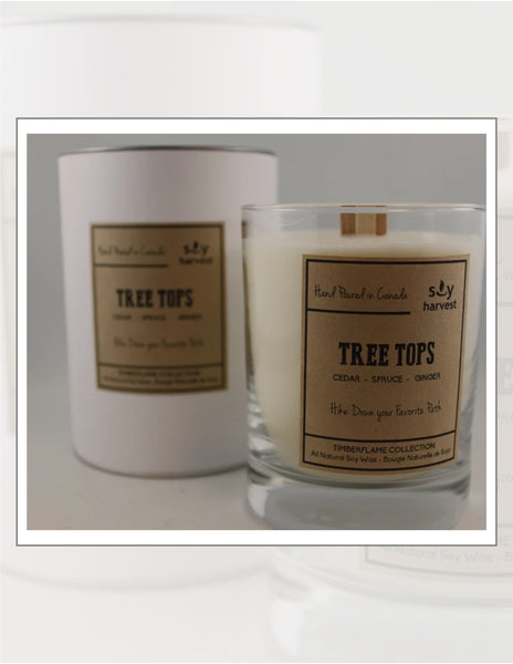 Soy Harvest Candles Timber Flame Collection Tree Tops Candle