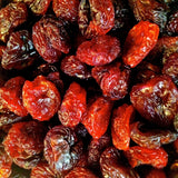 Cherry-Almond Clusters ~ Sun-Dried Cherries, Dry Roasted Almonds, Hand-Dipped in Dark Chocolate