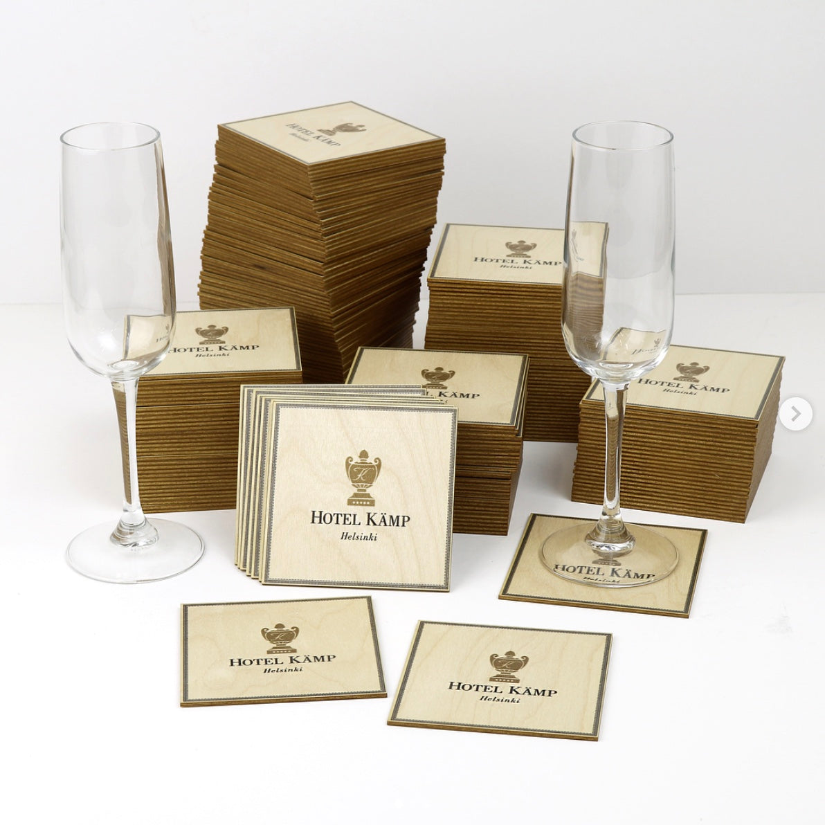 Drinks coasters - Custom shape x100pcs