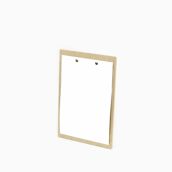 Menu Board A5 with brass fixings - Printed - 12pcs