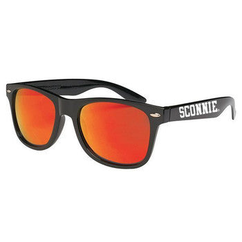 Sconnie Mirrored Sunglasses - Black Frame Red Lenses
