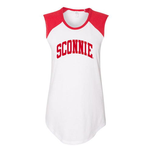 Sconnie Arch Womens Team Player Tee - White/Red