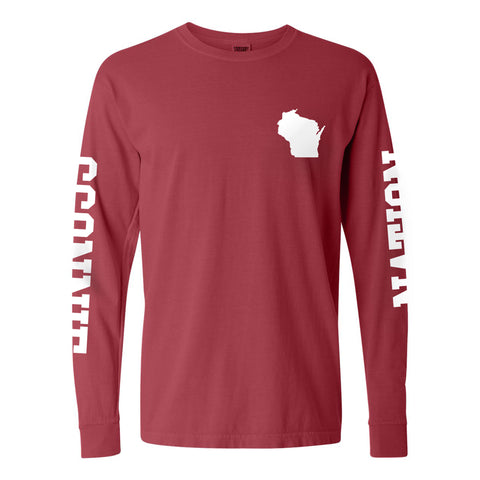 Sconnie Nation Double Sleeve CC Long Sleeve - Crimson