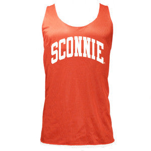 Sconnie Reversible Mesh Jersey Tank Top - Red & White
