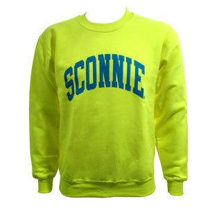 Sconnie Crewneck Sweatshirt - Safety Green