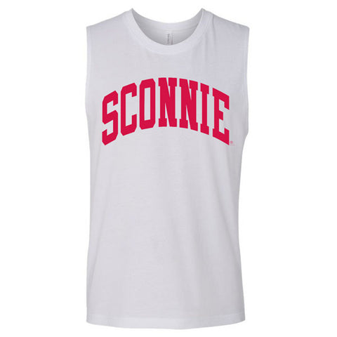 Sconnie Jersey Muscle Tank - White
