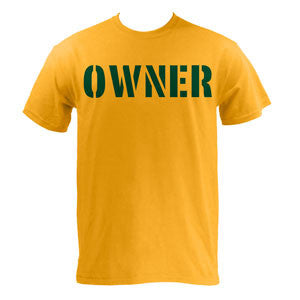 OWNER T-shirt - Gold