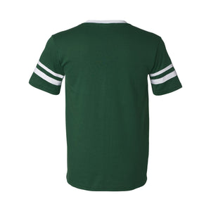 Sconnie Striped Sleeve T-shirt - Dark Green
