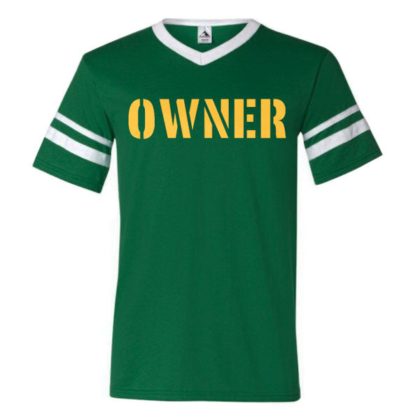 OWNER Striped Sleeve T-shirt - Dark Green