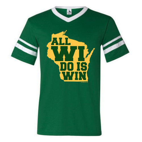 All WI Do Is Win Sleeve Stripe - Dark Green