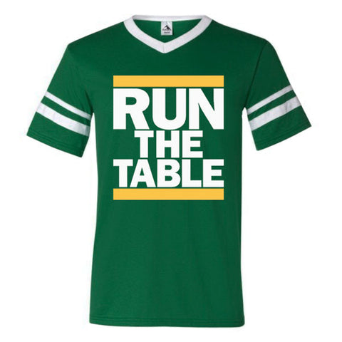 Run The Table Sleeve Stripe - Dark Green