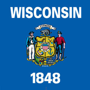 Wisconsin State Flag T-shirt - Royal