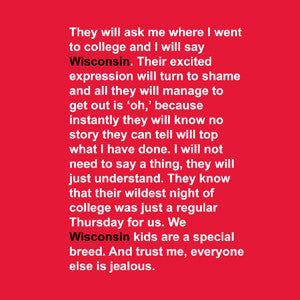 Wisconsin Quote - Red