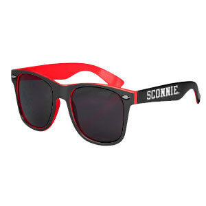 Sconnie 2 Tone Malibu Sunglasses - Red / Black