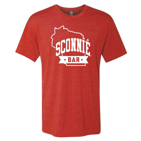 SCONNIEBAR State Logo Tri-Blend T-shirt - Vintage Red