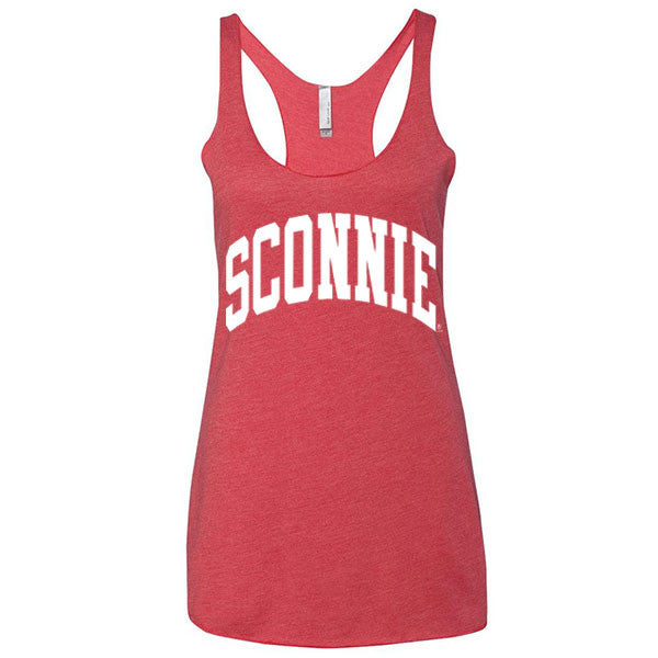 Original Sconnie Women's Tri-Blend Racerback Tank - Vintage Red