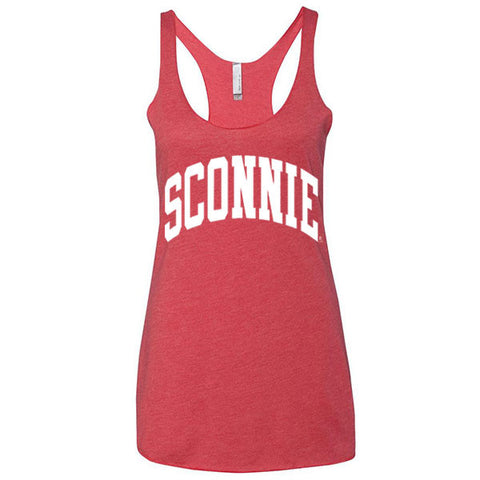 Original Sconnie Triblend Racerback Tank - Vtg Red