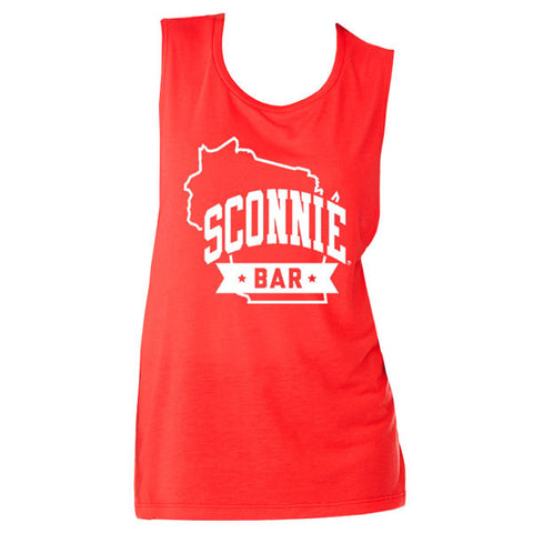 SCONNIEBAR Logo Scoop Tank - Red