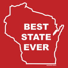 Load image into Gallery viewer, Wisconsin - Best State Ever T-shirt - Red