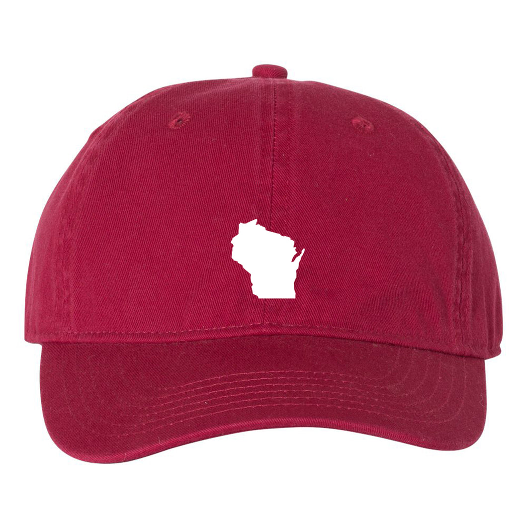 Mini Wisconsin Silhouette Hat - Brick