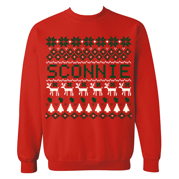 Sconnie Holiday Sweater Crewneck Sweatshirt - Red