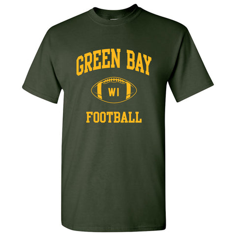 Green Bay Classic Football Arch - Forest