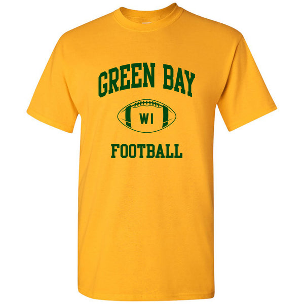 Green Bay Classic Football Arch - Gold