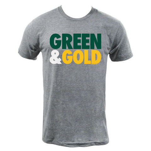 Green & Gold Tri-Blend T-shirt - Athletic Grey