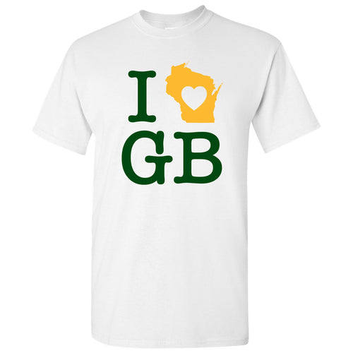 I Heart Green Bay Packers - White