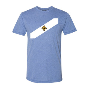 Madison City Flag Tri-Blend T-shirt - Athletic Blue