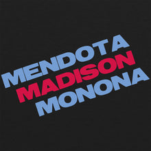 Load image into Gallery viewer, Mendota Madison Monona Tri-Blend T-shirt - Vintage Black