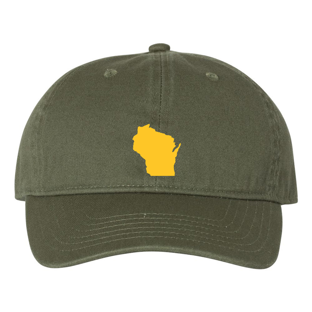 Mini Wisconsin Silhouette Hat - Moss