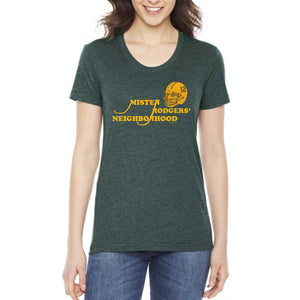 Mr. Rodger's Neighborhood Ladies Scoop Neck Tee - Heather Forest